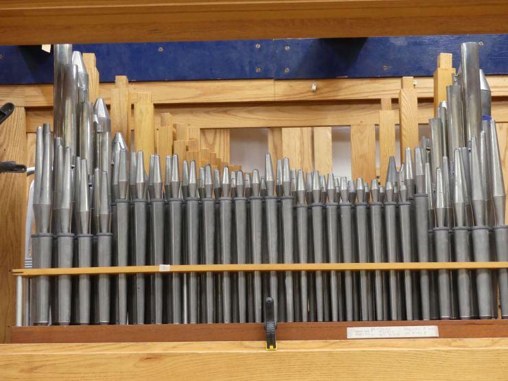Brustwerk - close-up of restored pipes
